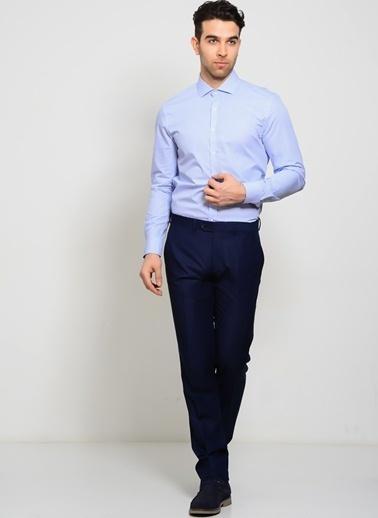 Cotton Bar Uzun Kollu Gömlek Mavi